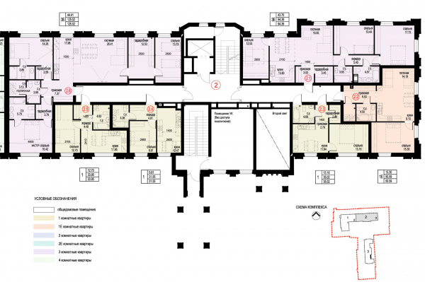 Section 2, plan of the 2nd floor. ID Moskovskiy Copyright: © Liphart Architects