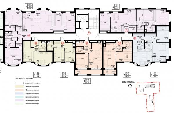 Section 2, plan of floors 3-6. ID Moskovskiy Copyright: © Liphart Architects