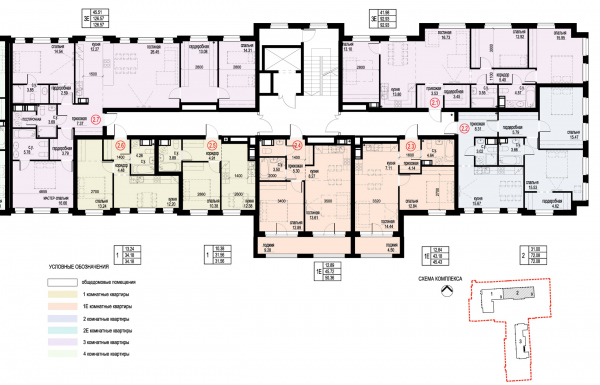 Section 2, plan of the 8th floor. ID Moskovskiy Copyright: © Liphart Architects