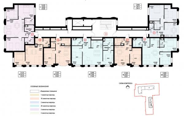 Section 3, plan of floors 8-9. ID Moskovskiy Copyright: © Liphart Architects