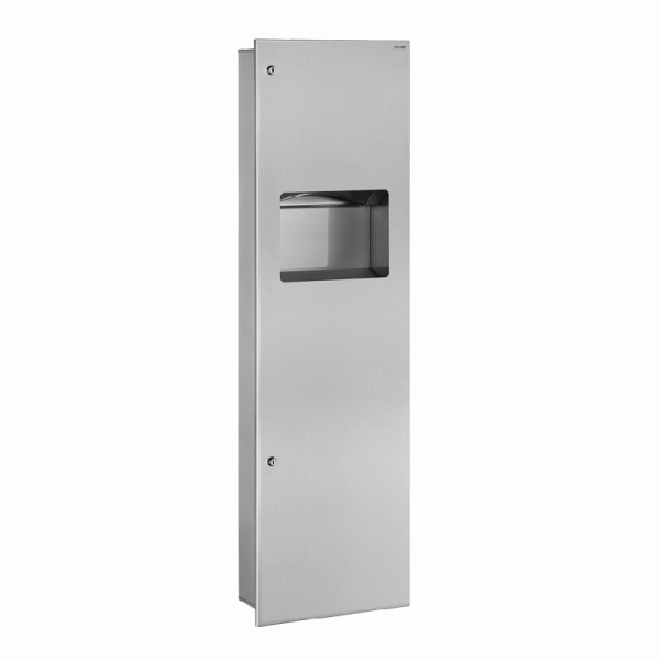 Интегрированная панель: мусорная корзина и диспенсер полотенец, 30 л Арт. 510715S Delabie