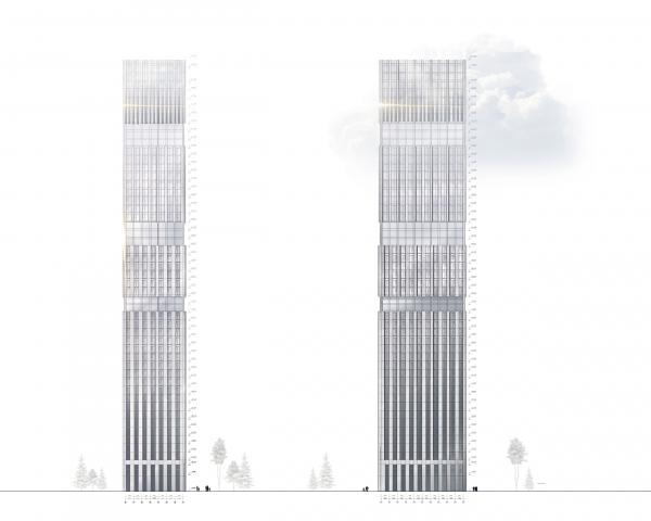 Symphony 34 housing complex. Tower B. Facade Copyright: © Kleinewelt Architekten