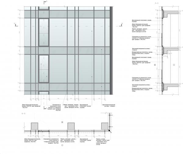 Symphony 34 housing complex. Tower C. Facade Copyright: © Kleinewelt Architekten