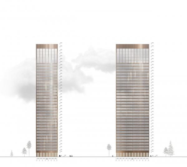 Symphony 34 housing complex. Tower D. Facades Copyright: © Kleinewelt Architekten