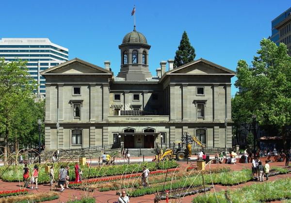 Здание Суда первопроходцев в Портленде Фото: M.O. Stevens via Wikimedia Commons. Лицензия  Creative Commons Attribution-Share Alike 3.0 Unported