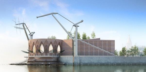 Проект театра на Стрелке в Нижнем Новгороде © Андрей Козырь, Александр Пономарев