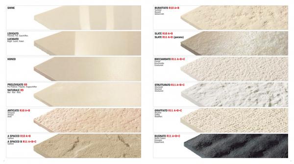 Линейка гладких и рельефных поверхностей для стандартных форматов керамогранита © Lucido