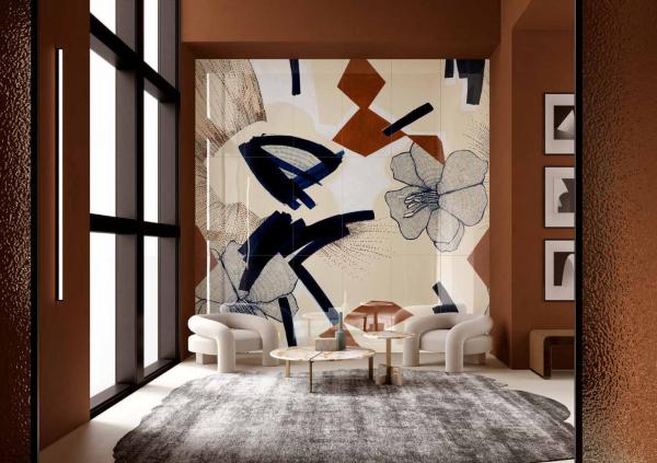 Декорированные слэбы  бренда SODABI © Lucido