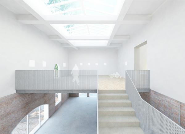 Проект реконструкции павильона России на биеннале в Венеции, 2020-2021. Выставочное пространство, северная часть, вариант © KASA