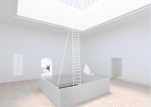 Проект реконструкции павильона России на биеннале в Венеции, 2020-2021. Выставочное пространство, центральный зал © KASA