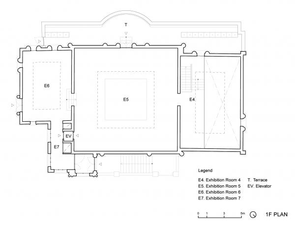 Проект реконструкции павильона России на биеннале в Венеции, 2020-2021. План второго этажа © KASA