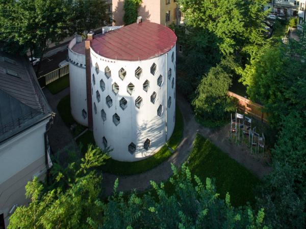 Дом Мельникова. Вид сверху с северо-востока Фотография © Денис Есаков. Предоставлено Музеем архитектуры