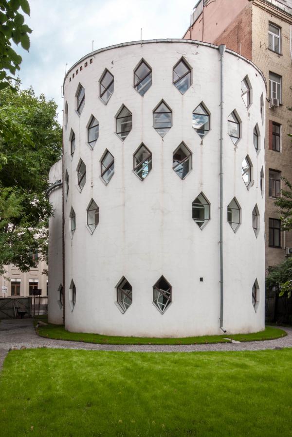Дом Мельникова. Вид на дворовый (северный) фасад Фотография © Денис Есаков. Предоставлено Музеем архитектуры