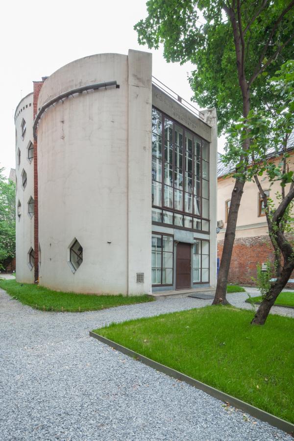 Дом Мельникова. Вид на уличный (южный) фасад Фотография © Денис Есаков. Предоставлено Музеем архитектуры