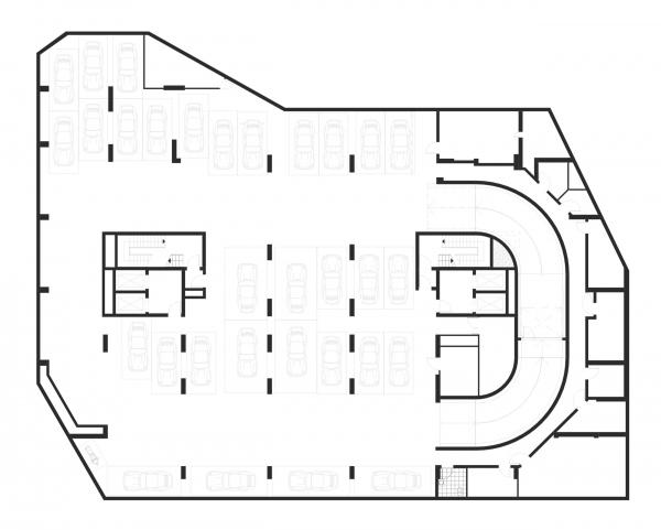 "План 1 этажа. Апартаментный комплекс ""Play"" © ADM"