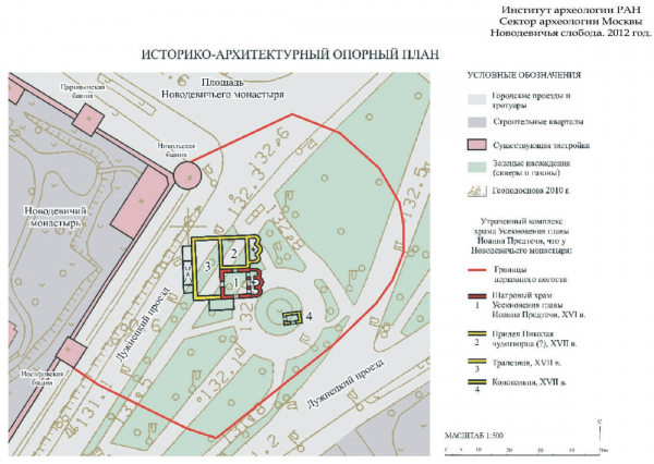 Historical and architectural base plan, 2012 Compiled by Olga Kim Copyright: © Institute of Archeology of Russian Academy of Sciences