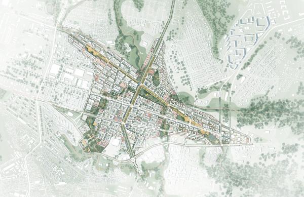 Конкурсная концепция развития центральной части Саратова. План территории бывшего аэропорта Karres en Brands + Mandaworks + KOSMOS