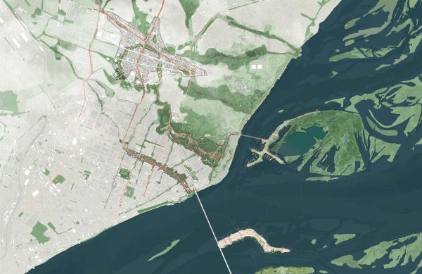 Конкурсная концепция развития центральной части Саратова. Генеральный план Karres en Brands + Mandaworks + KOSMOS