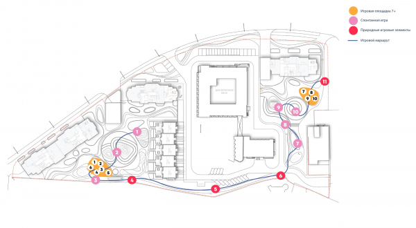 Стратегия игры. Городские резиденции «Spires» © GAFA Architects