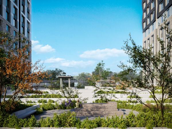 EVER residential complex. The Zen garden Copyright: © GAFA