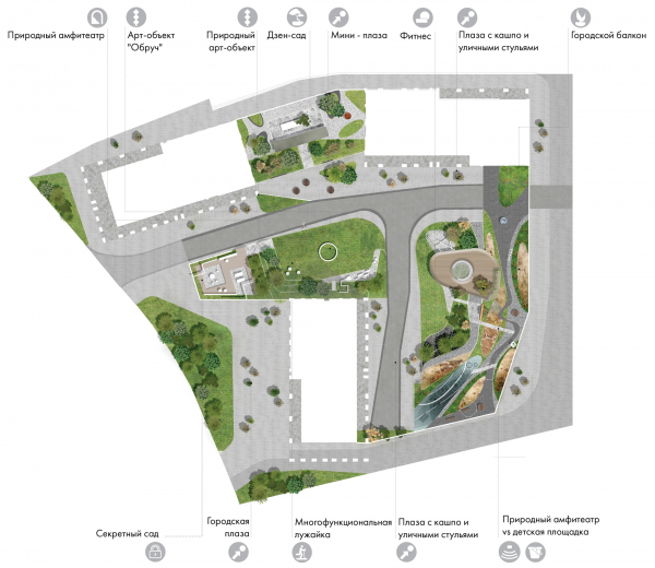 The master plan of Phase 1. EVER residential complex Copyright: © GAFA