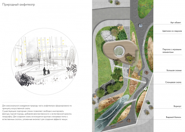 EVER residential complex The landscaping project. The natural amphitheater Copyright: © GAFA