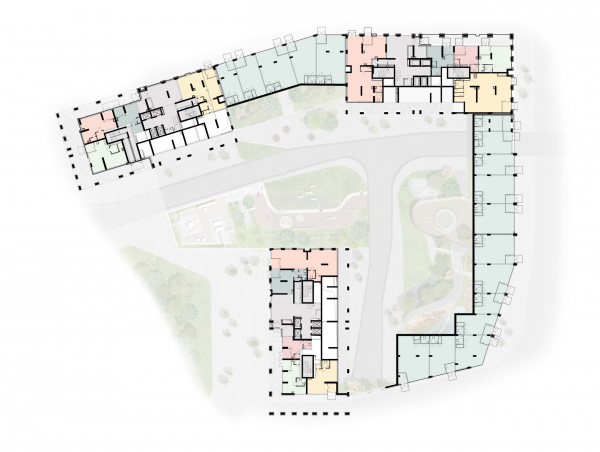 EVER residential complex. Plan of the 1st floor Copyright: © GAFA