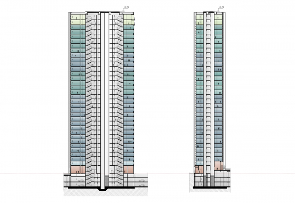 EVER residential complex. A section view Copyright: © GAFA