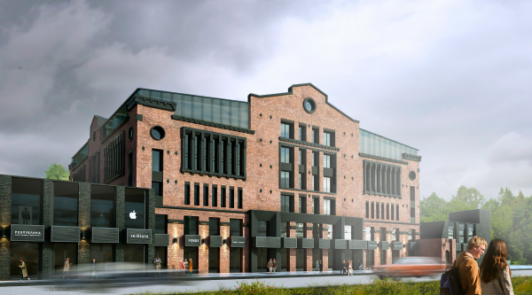 The Beetle office center. Phase 2. Visualization of the north facade Copyright: © KPLN