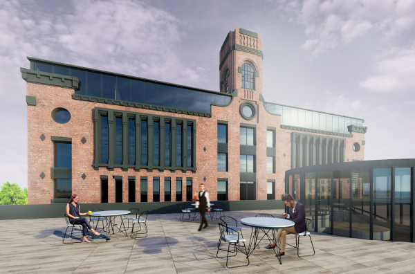 The Beetle office center. Stage 2. Visualization of the west facade Copyright: © KPLN
