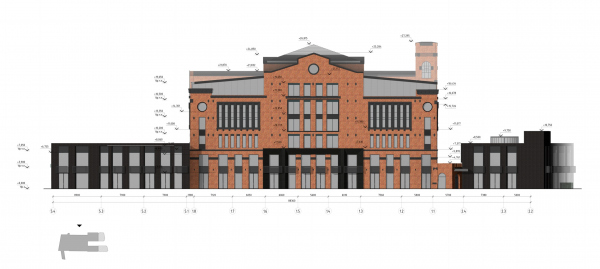 The Beetle office center. Stage 2. The north facade Copyright: © KPLN