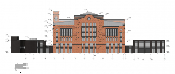 The Beetle office center. Stage 2. The south facade Copyright: © KPLN