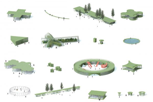 Парк «Швейцария». Парковые павильоны © Kosmos Architects