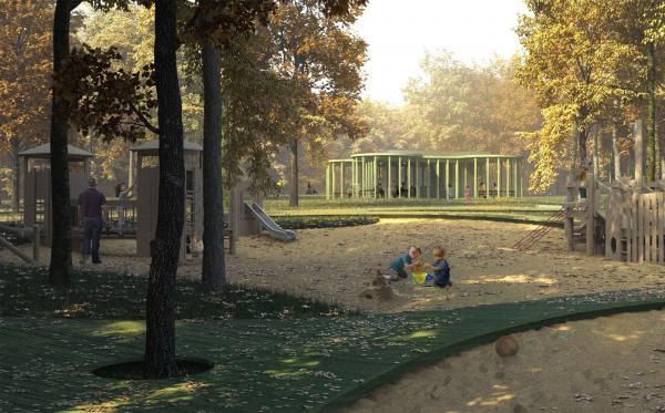 Парк «Швейцария». Детское кафе в детском парке © Kosmos Architects