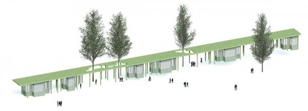 Парк «Швейцария». Киоски в Центральном парке © Kosmos Architects