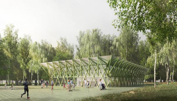 Парк «Швейцария». Спортивный центр в Спортивном парке © Kosmos Architects