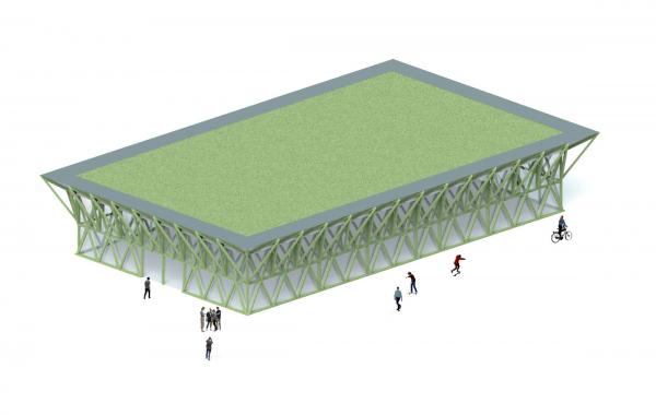 Парк «Швейцария». Спортивный центр © Kosmos Architects