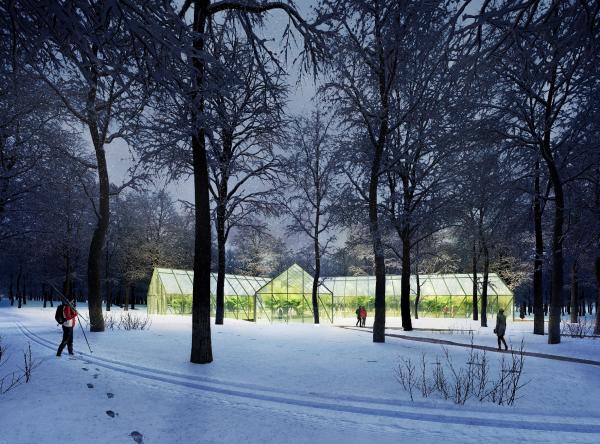 Парк «Швейцария». Оранжерея в Ландшафтном парке © Kosmos Architects