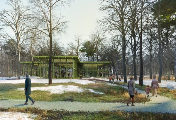 Парк «Швейцария». Экошкола в Ландшафтном парке © Kosmos Architects
