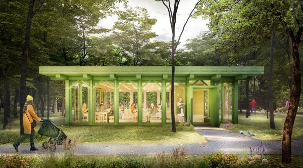 Парк «Швейцария». Читальня в Курортном парке © Kosmos Architects