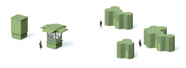 Парк «Швейцария». НТО и туалет © Kosmos Architects