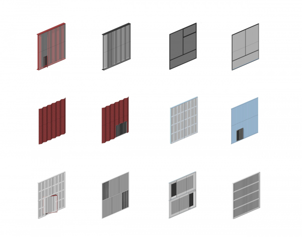 Проммодули. Варианты фасадных панелей  © TRY