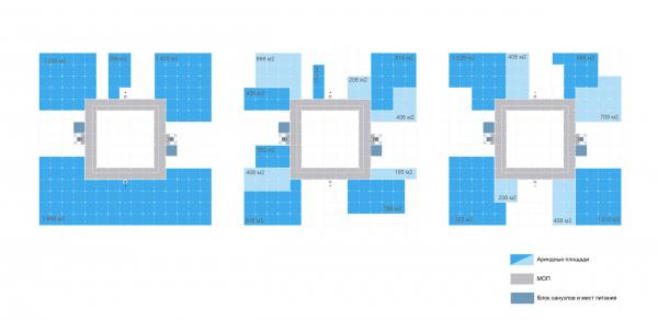 Проммодули. Разнообразие конфигураций плана   © TRY