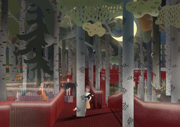 Концепция благоустройства парка «Тарханово» в Йошкар-Оле Лаборатория архитектурного дизайна «Альдебаран» + бюро ZARF + студия АРХДВОР