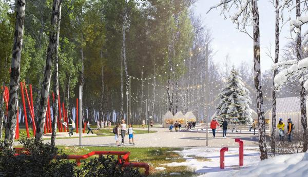 Концепция благоустройства парка «Тарханово» в Йошкар-Оле TOBE architects