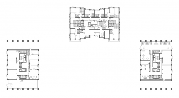 "Plan of the level of the 1st floor. The apartment complex ""Novodanilovskaya 8"" Copyright: © ADM"