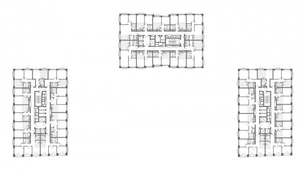 "Plan of the 10th floor. The apartment complex ""Novodanilovskaya 8"" Copyright: © ADM"