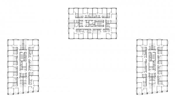 "Plan of the 26th floor. The apartment complex ""Novodanilovskaya 8"" Copyright: © ADM"