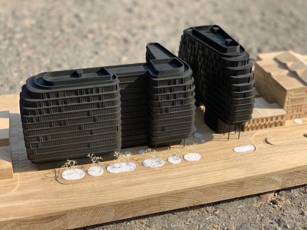 The Beetle office center. Phase 1, Stage 2. The competition project, a model Copyright: © KPLN