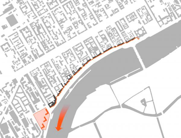 Жилой комплекс «Красин». Продолжение ступенчатой структуры набережной. © Студия 44  Изображение предоставлено пресс-службой КГА